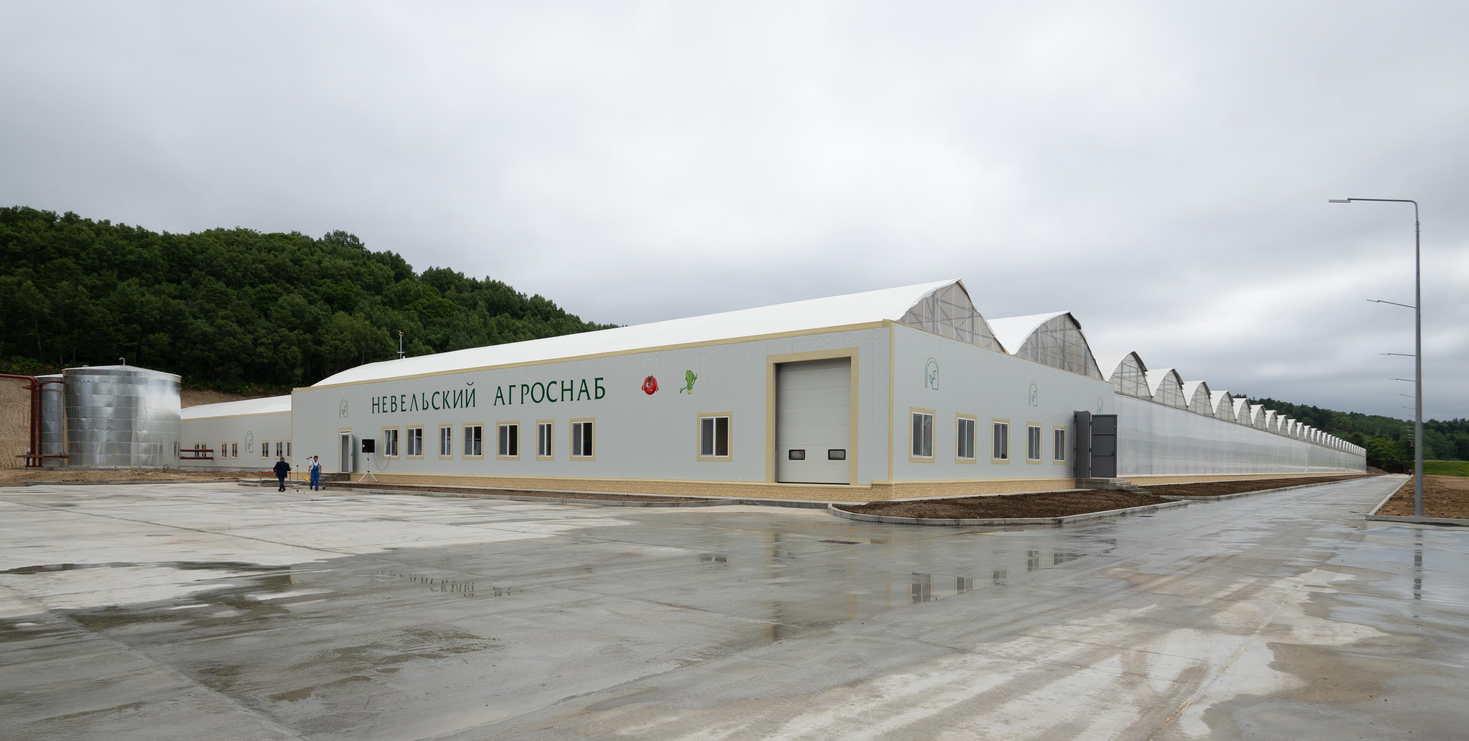 В Невельском районе торжественно открыли новый тепличный комплекс