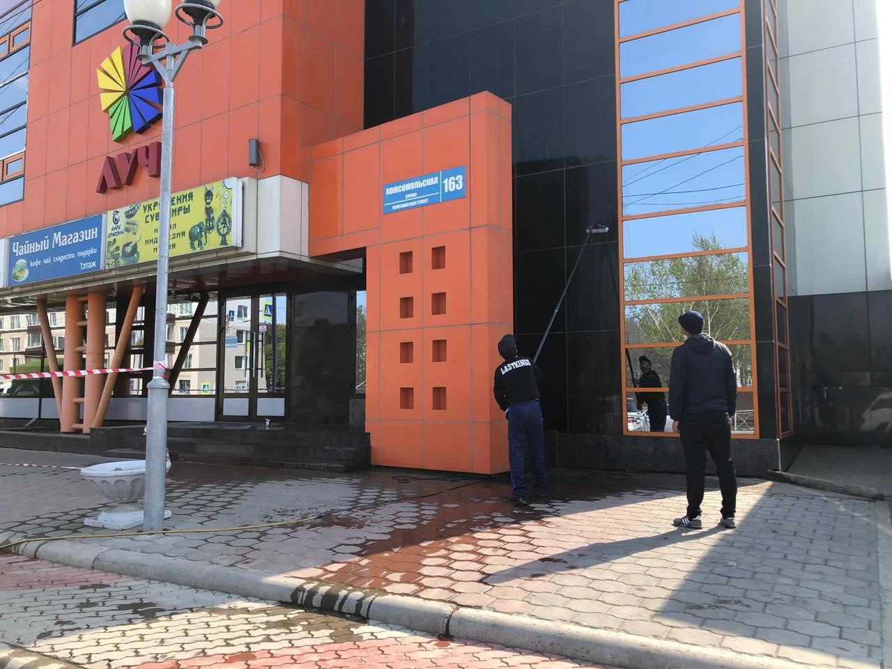 Мытье фасадов в калининграде